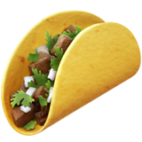 emoji 🌮 | taco | apple | 240 x 240