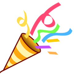 emoji 🎉 | party popper | emojidex | 240 x 240