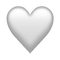 Cœur Blanc Emoji Image Haute Definition Et Unicode Information Emoji Dictionnaire Emoji Emojiall Site Officiel Francais