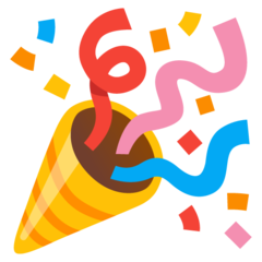 emoji 🎉 | party popper | google | 240 x 240