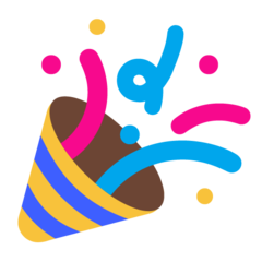emoji 🎉 | party popper | microsoft | 240 x 240