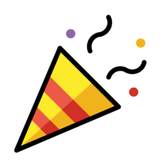 emoji 🎉 | party popper | openmoji | 240 x 240