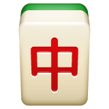 emoji 🀄 | dragon rouge mahjong | whatsapp | 240 x 240