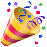 emoji 🎉 | party popper | whatsapp | 240 x 240