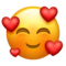 emoji 🥰 | smiling face with hearts | emojipedia | 60 x 60