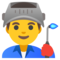 Emoji: 👨🏭, Code: 1F468 200D 1F3ED
